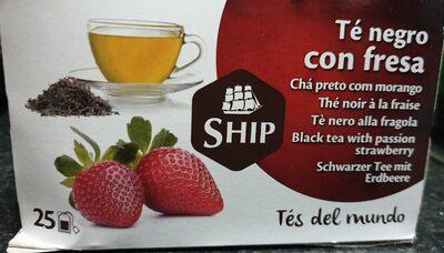 Té negro con fresa