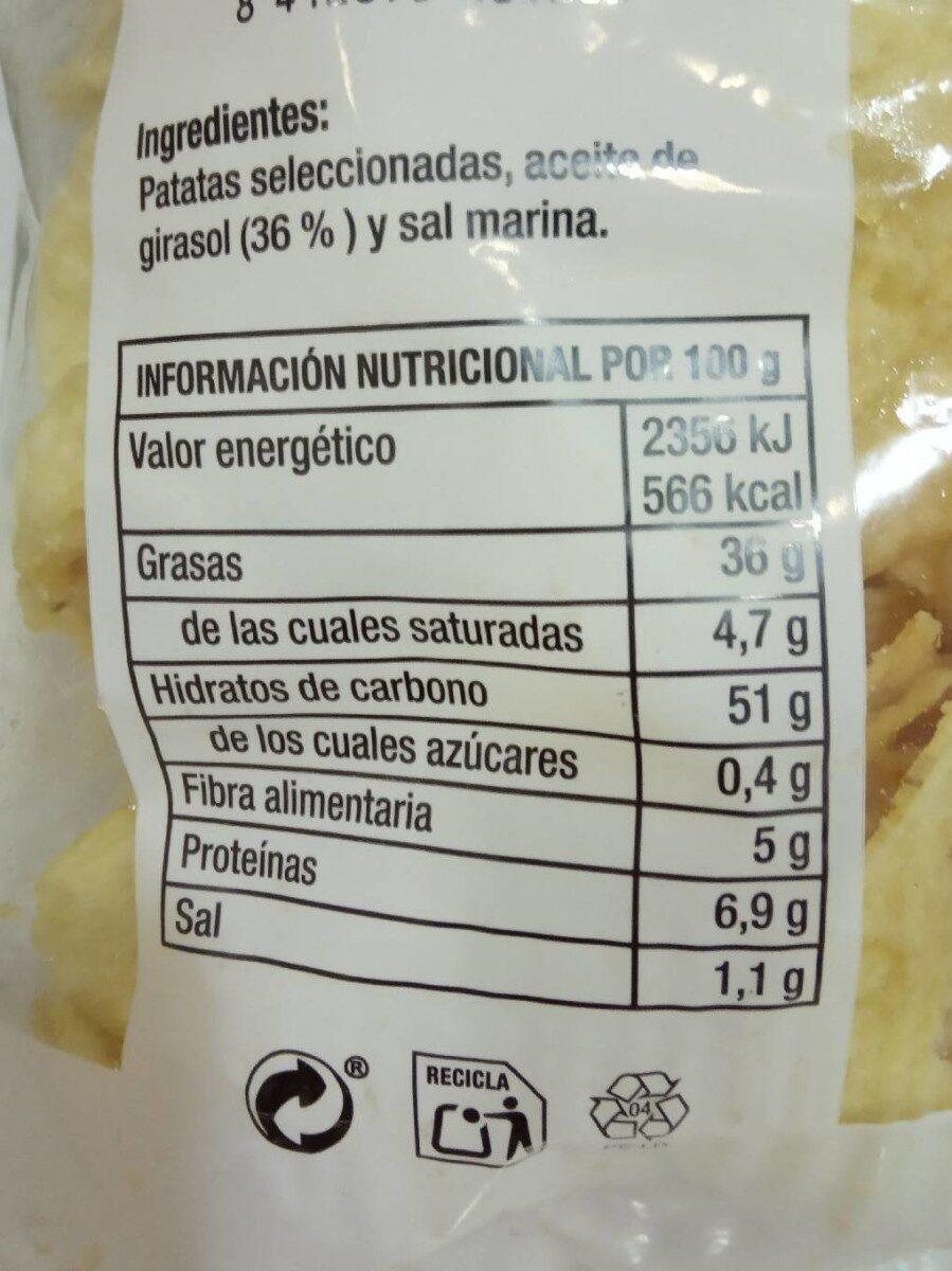 Patatas fritas Anizvi - Información nutricional - es