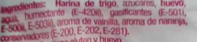Bizcochos soletilla - Ingredientes - es