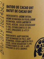 Cacaolat Original - Ingrédients - fr