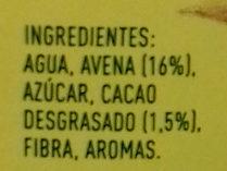 Cacaolat Veggie - Ingredients - es