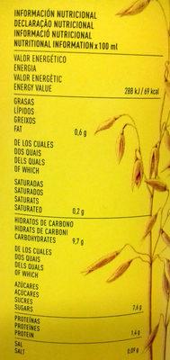 Cacaolat Veggie - Informations nutritionnelles
