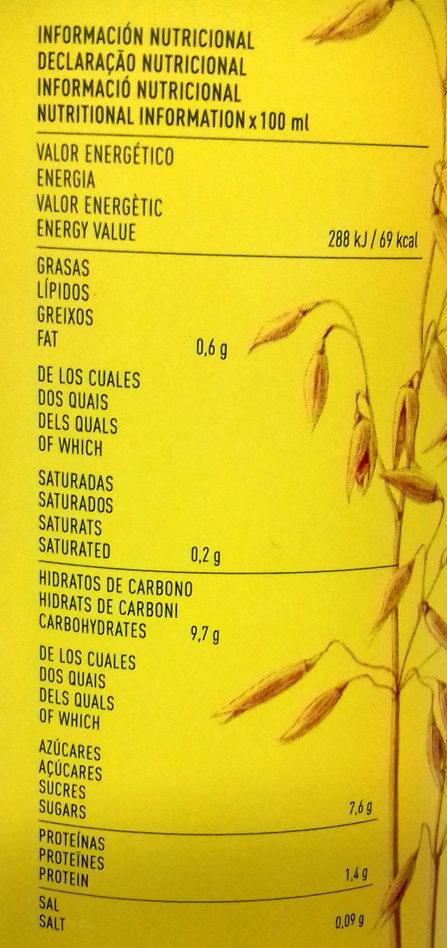 Cacaolat Veggie - Nutrition facts - es