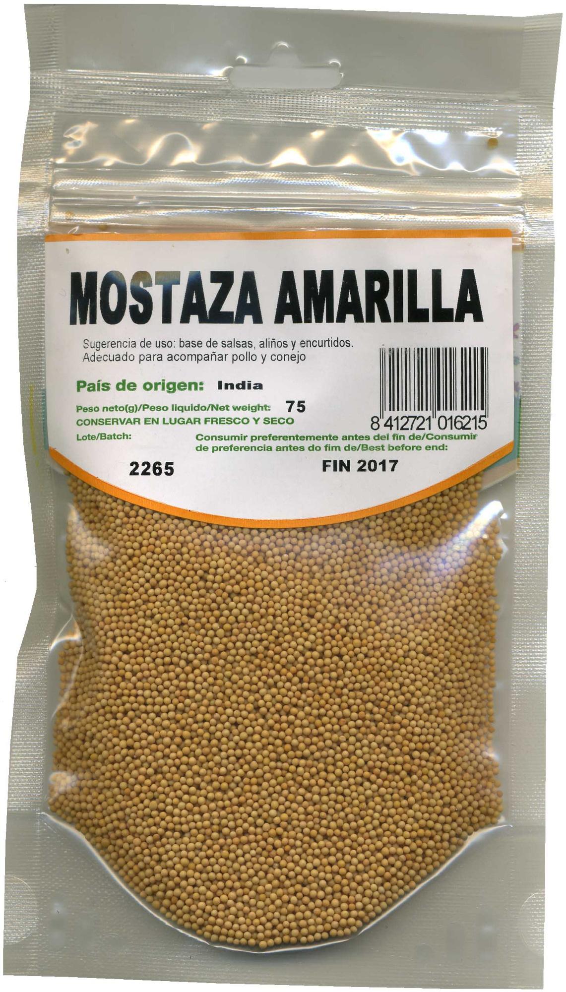 Semillas de mostaza amarilla - Producte