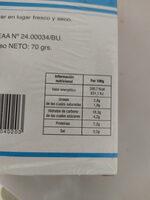 Pimientos secos - Informations nutritionnelles - es