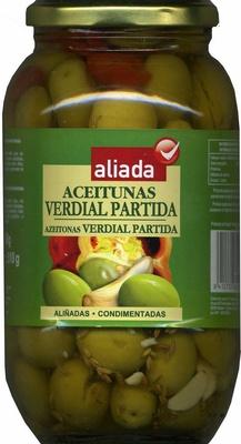 """Aceitunas verdes partidas aliñadas """"Aliada"""" Variedad Verdial - Product"""