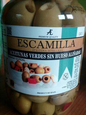 Aceitunas verdes sin hueso aliñadas - Product - es