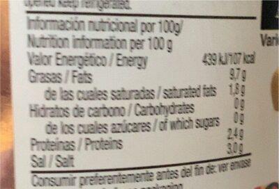 Aceitunas verdes sin hueso aliñadas - Informació nutricional - es