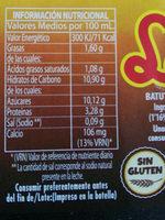 Laccao - Información nutricional