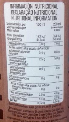 Bebida de almendras españolas - Nutrition facts