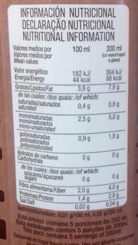 Bebida de almendras españolas - Informations nutritionnelles - es