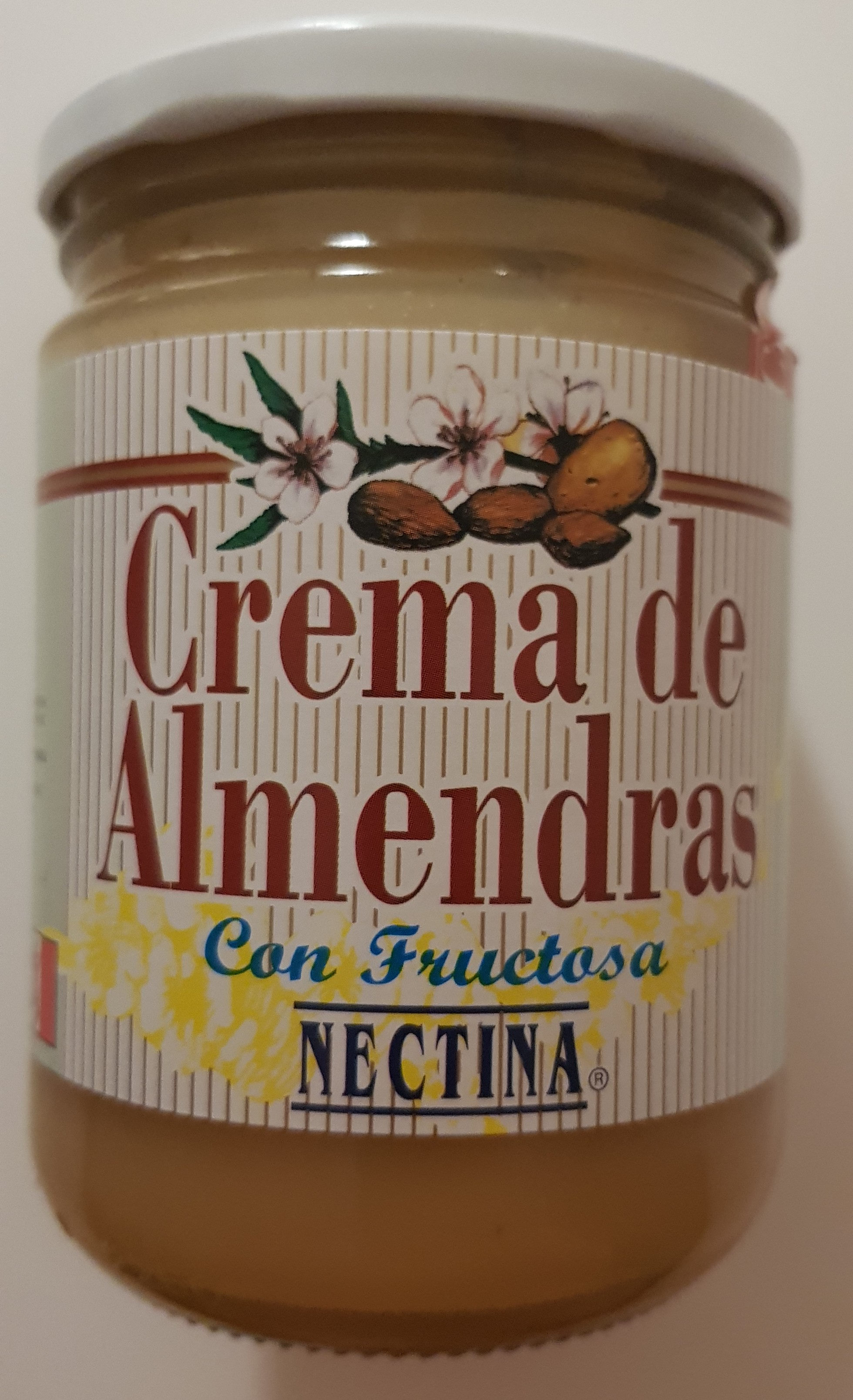 Crema de almendras con fructosa - Producte