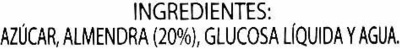 Crema de Almendras - Ingredientes