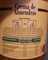 Crema de almendras - Información nutricional - es