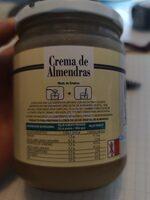 Crema de almendras - Informations nutritionnelles - es