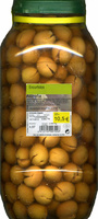Aceitunas verdes partidas aliñadas. Variedad Aloreña de Málaga. - Product