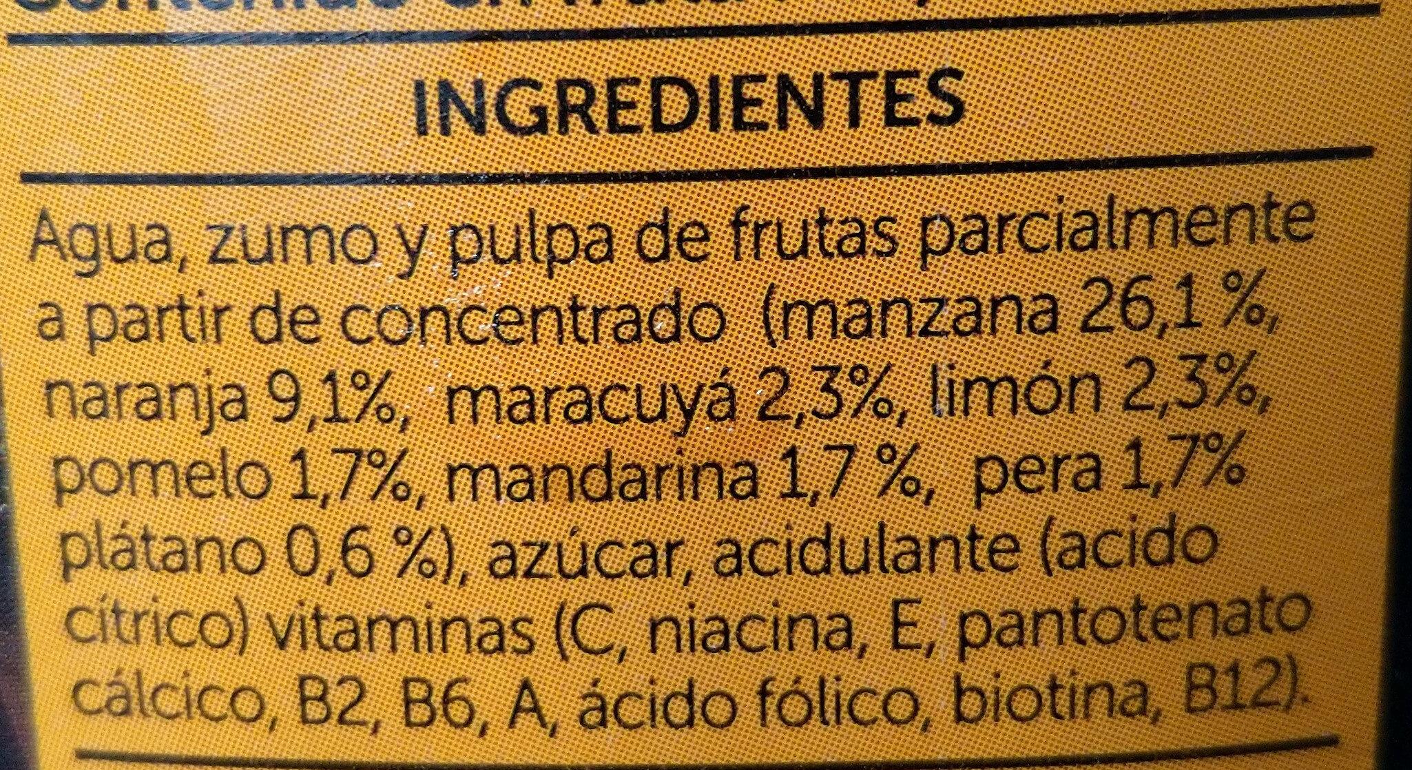 Néctar Multifrutas - Ingredientes - es