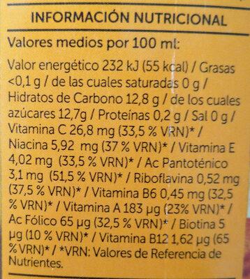 Néctar Multifrutas - Información nutricional - es
