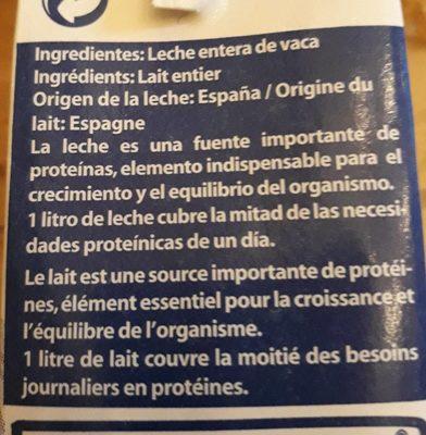 Leche UHT entera - Ingredients