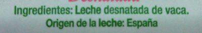 Leche desnatada de Galicia - Ingredientes - es