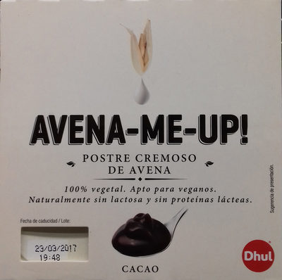 Postre cremoso de avena Cacao - Product - es