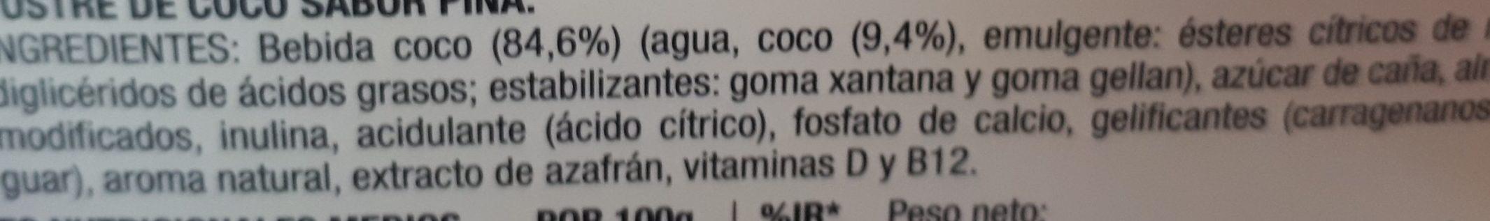 Postre cremoso de coco Piña - Ingrédients