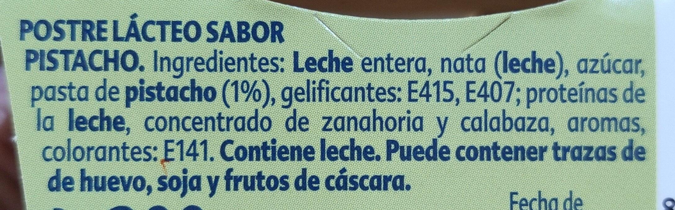 Gourmand pistacho - Ingredientes - es