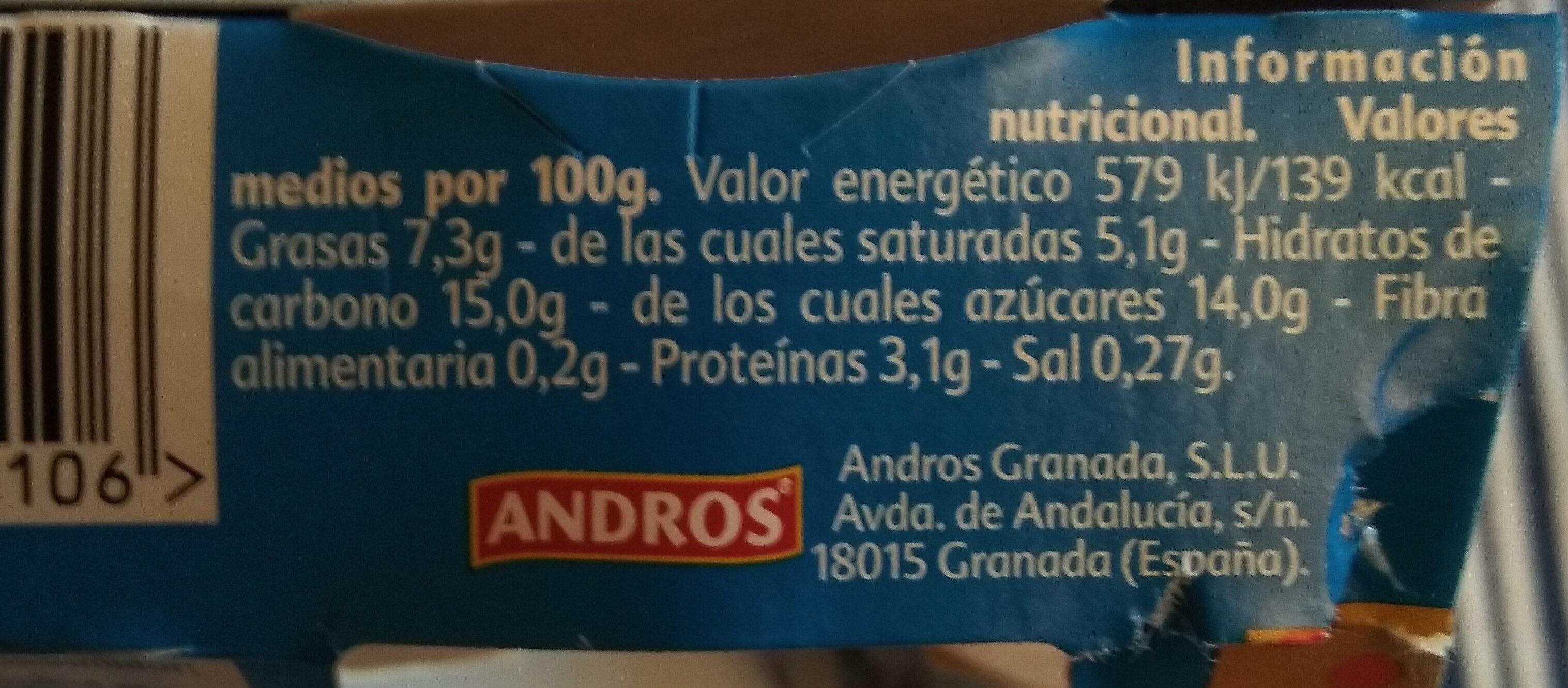 Yogur Gourmand - Información nutricional - es
