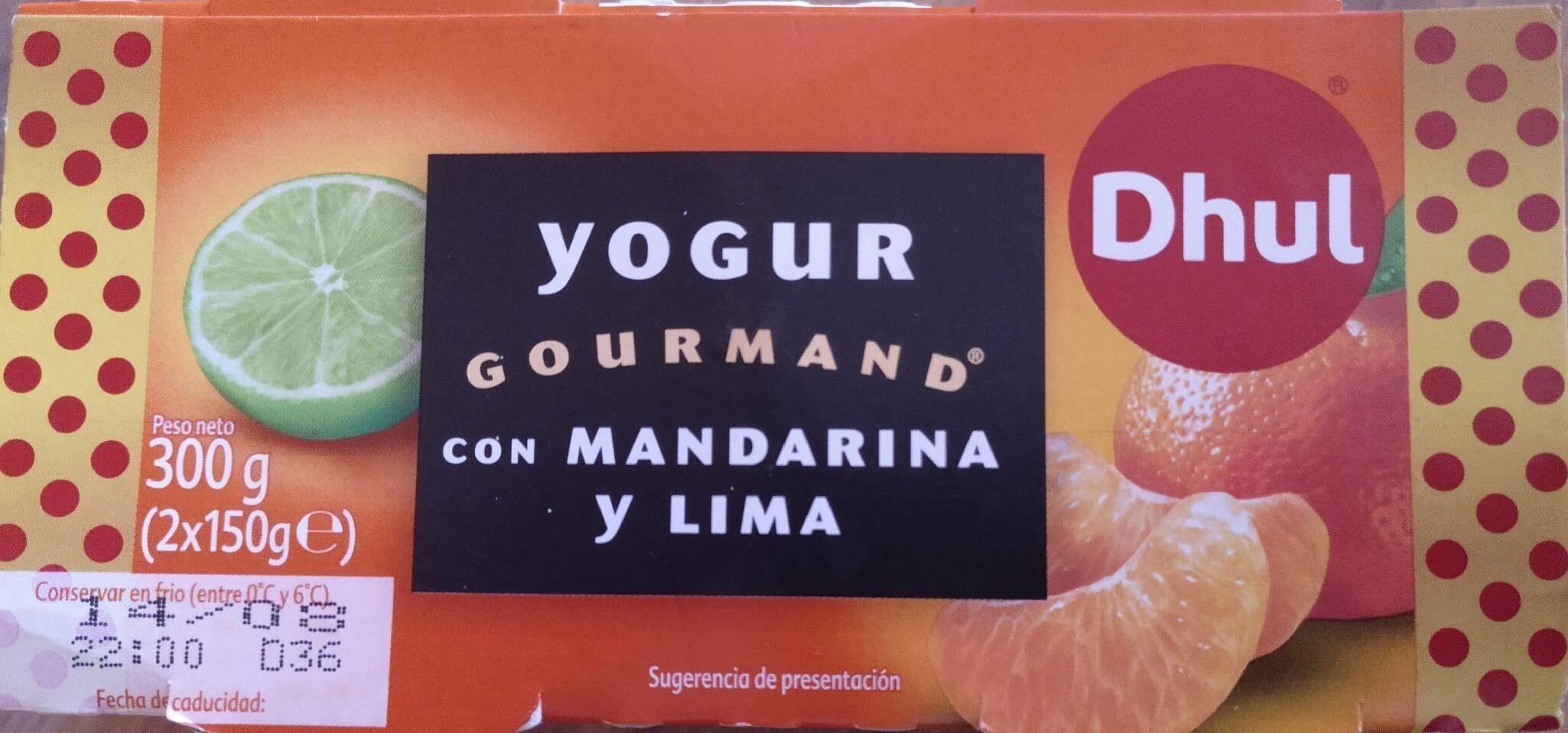 Yogur GOURMAND con mandarina y lima - Producto
