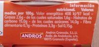 Yogur GOURMAND con mandarina y lima - Información nutricional