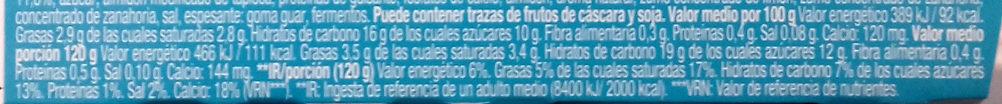 Gourmand & Vegetal Cremoso de coco melocotón - Información nutricional - es