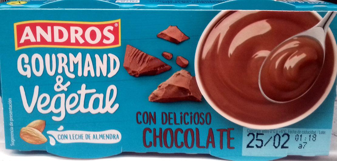 Gourmand & Vegetal Con leche de almendra Chocolate - Producto - es
