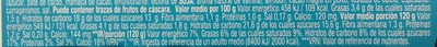 Gourmand & Vegetal Con leche de almendra Chocolate - Nutrition facts