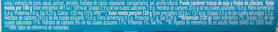 Gourmand & Vegetal con leche de almendra y delicioso caramelo - Información nutricional - es