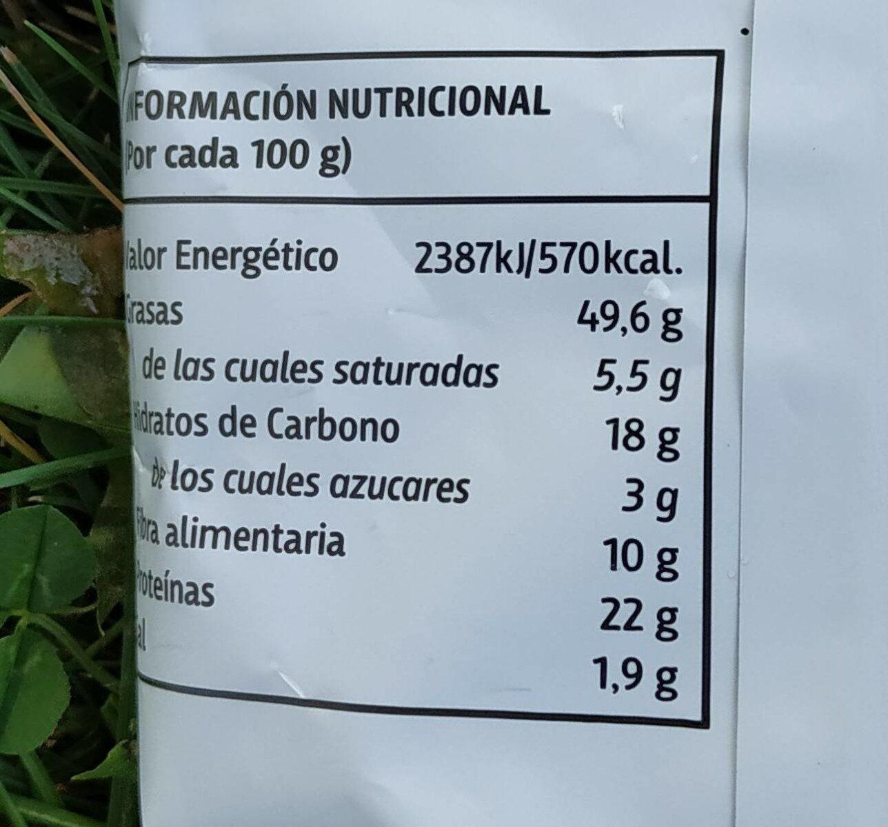 Pipas girasol - Información nutricional - es