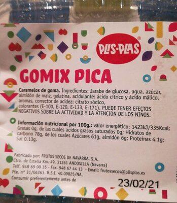 Gomic pica - Información nutricional - es