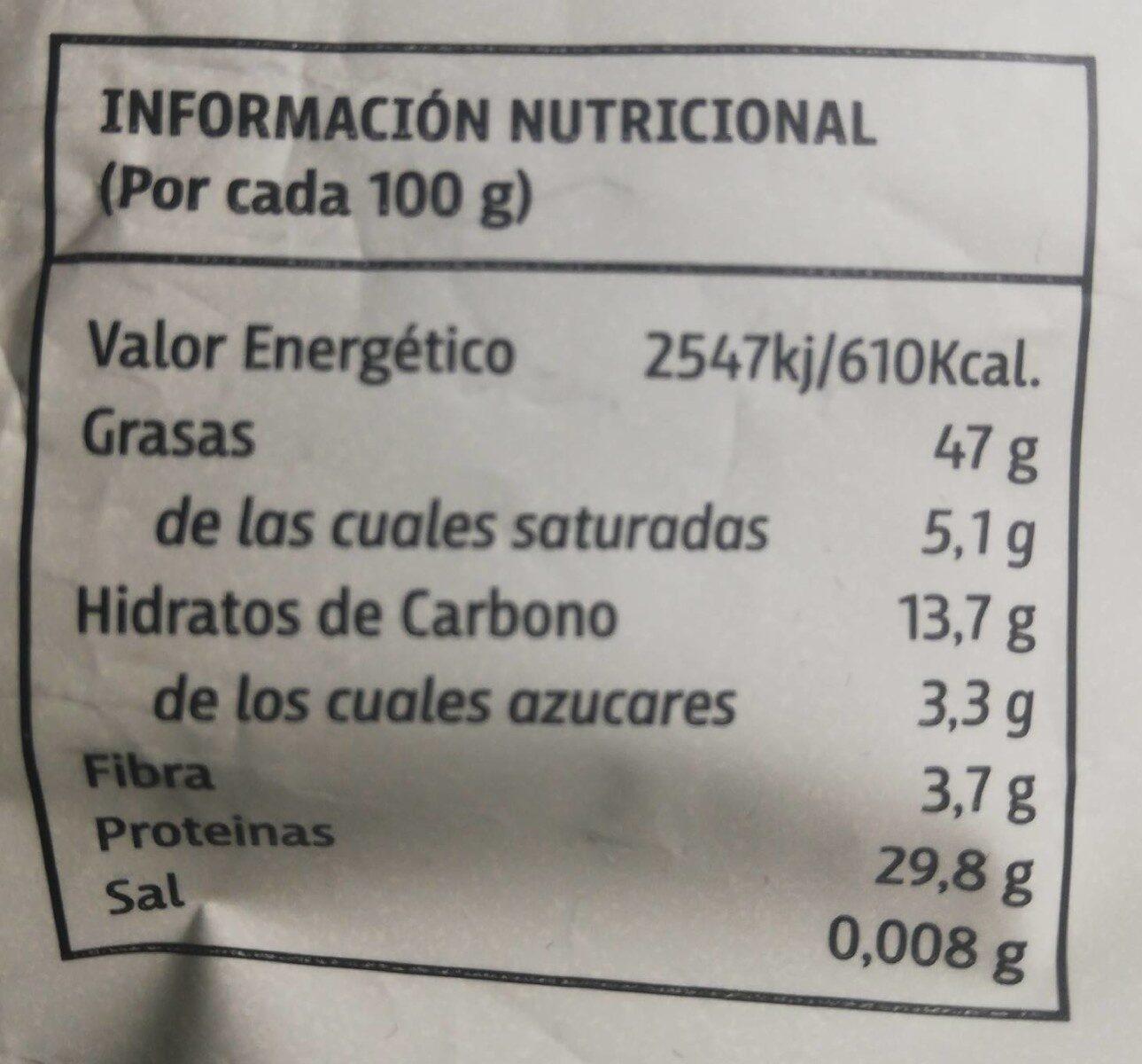 PIPAS de Girasol SIN SAL AÑADIDA - Nutrition facts - es