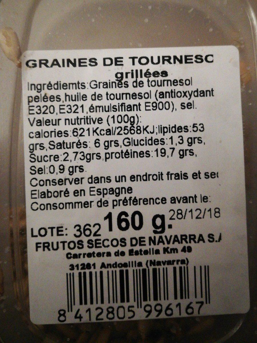 Pipas Peladas Tarrina - Ingredientes - fr