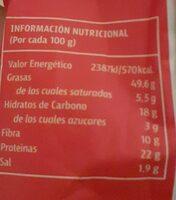 Pipas gigantes - Información nutricional - es