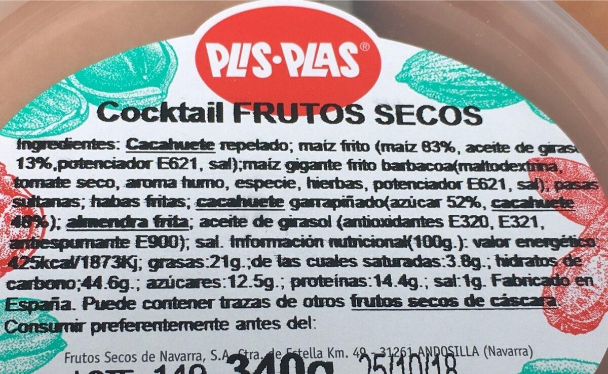 Cocktail frutos secos - Ingredients - fr