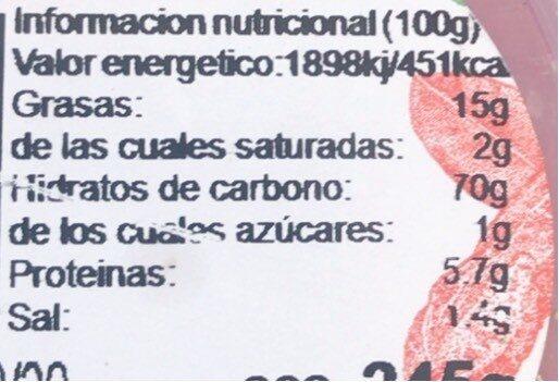 MAIZ GIGANTE BARBACOA - Informations nutritionnelles - fr