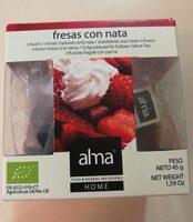 Infusión de fresas con nata - Producto - es