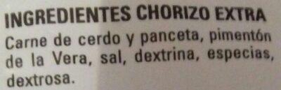 Chorizo de león - Ingredients - es