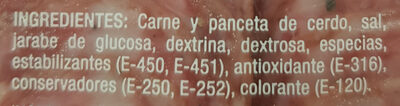 Salchichón de León - Ingredientes - es