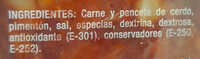 Chorizo de leon extra - Ingredients - es