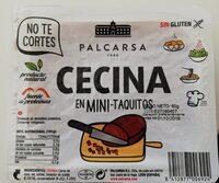Cecina en mini taquitos - Produit
