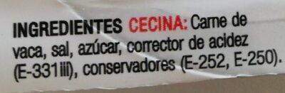 Cecina en mini taquitos - Ingrédients
