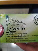 Té verde con menta - Ingrediënten - es