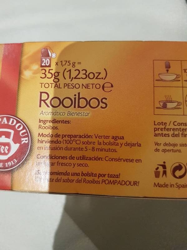 Rooibos - Ingrediënten