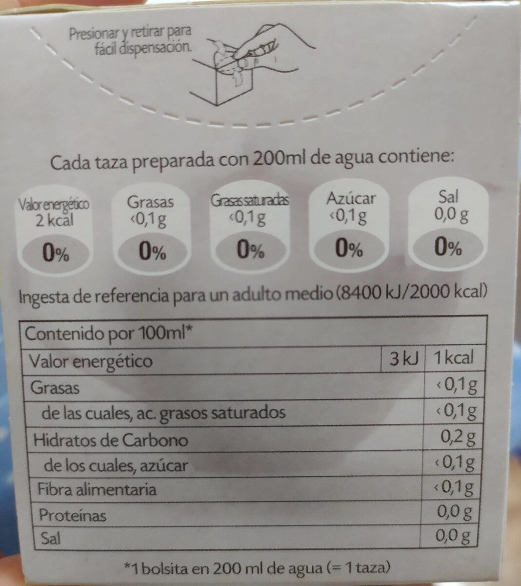 Pompadour- evacua bien - Voedingswaarden - es